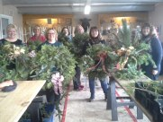 Christmas Wreath Workshop participants