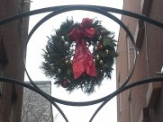Seasonal wreath on Ottawa office building